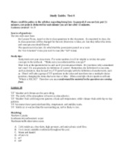 Test Study Guide 4