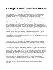 Floating Rate Bond Currency Considerations.docx