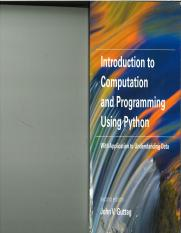 ntroduction to Computation and Programming Using Python With Application to Understanding Data