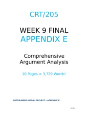 crt 205 final paper Find seanna's answers to recent homework questions online on justanswer 800 word paper covering the following topics related to crt 205 final project.