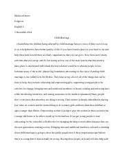 ap psych essay two bretta rundhammer mrs thakur ap psychology 2 pages child marriage editorial 3