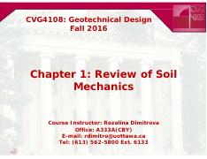 CVG4108_Ch1_Review of Soil Mechanics
