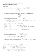 Final Exam Review Sheet Answers