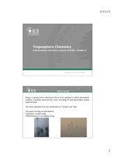 Chapter 4 vanLoon - Tropospheric Chemistry - Smog