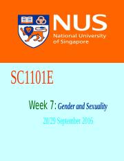 SC1101E Week 7 Gender and Sexuality.ppt