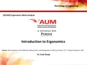 Lecture 2 - Introduction to Ergonomics