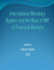 Lecture 1 IMF and International Monetary System 2016 (1).ppt