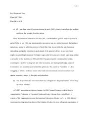 Essay about American Federation Labor Union.docx
