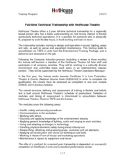 2014 FT tech trainee info