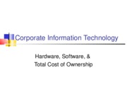 Hardware Software TCO v2