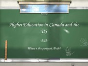 Higher ed Canada-US