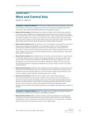 WEST & CENTRAL ASIA