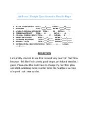 Wellness Lifestyle Questionnaire Results Page.docx