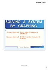 SOLVE A SYSTEM BY GRAPHING NOTE