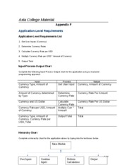 Assignment Application-Level Requirements