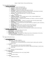 NOTES - Major Themes of Anatomy & Physiology