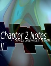 Chapter 2 Notes Hon