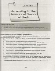 C7 Accounting for the isuance of shares of stock