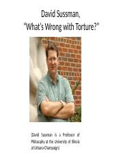 notes_on_david_sussman_on_torture.ppt