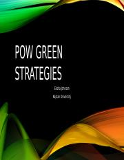 Green Strategies at the Port of Woodland-Unit 9-Powerpoint Draft