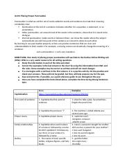 Unit 0 Placing Proper Punctuation Study Guide--student Word.docx