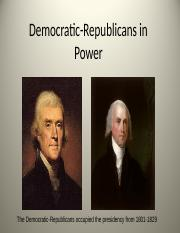 Democratic-Republicans in Power