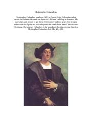 christopher columbus person