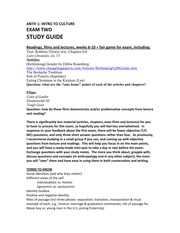 Exam 2 study guide (anth 1)