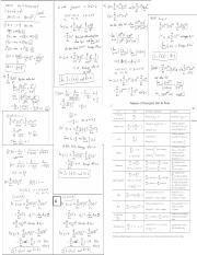Calc II Test #4 Cheat Sheet