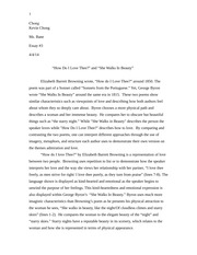 "essay 3: ""How Do I Love Thee?"" and ""She Walks In Beauty"""