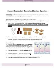 GIZMOSBalancingChemEquations.pdf - Student Exploration ...