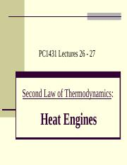 Wang Qinghai-L26-27 Second Law - Heat Engines.ppt