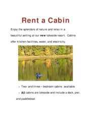 Rent a Cabin Shenita Book