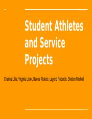 Student Athlete Service Project