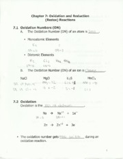 chem 212 oxidation notes
