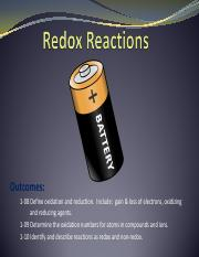 6.  Identifying Redox Reactions
