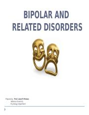 Chapter V-Bipolar and Related Disorder
