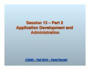 13_2 Application Development and Administration