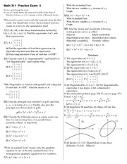Practice Exam 5 on Linear Algebra