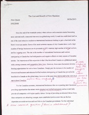 The Cost and Benefit of New Business Essay