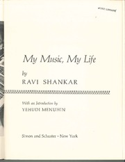 Shankar, excerpt from 'my music, my life'