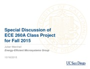 ECE260A - Project Discussion