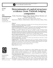 #3Determinants of capital structure_ evidence from Turkish lodgingcompanies.pdf