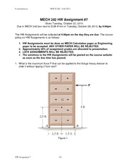 MECH 242 2013 Assignment 7 Solutions