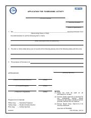 Application for Fund Raising School Sales