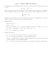 Lecture Notes linear_v_nonlinear