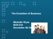The Evolution of Business Presentation