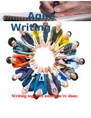 Agile Writing Flyer