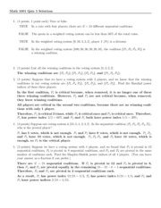 Quiz 5 Solution on Excursions in Mathematics
