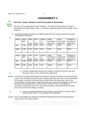 Physics 30 Assignment 2